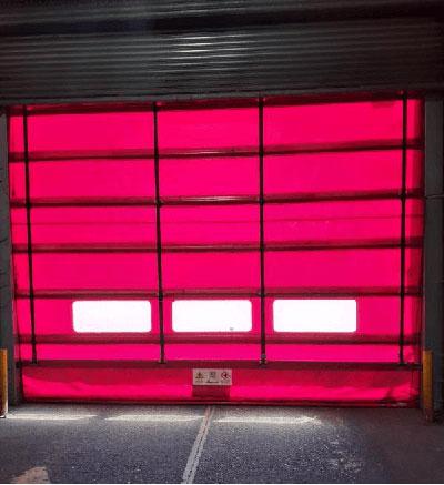 Industrial door callout