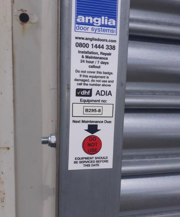 Unsafe equipment sticker